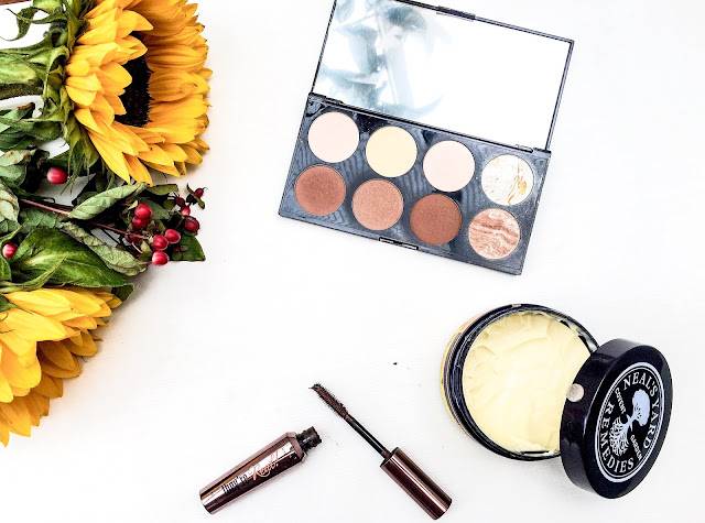 The Makeup Revolution Ultra Contour Palette,  Makeup Revolution,  Makeup Revolution contour,  Makeup Revolution palettes,  Makeup Revolution blush palette, Benefit Cosmetics They're Real Mascara, Benefit Cosmetics They're Real Mascara brown, The Neal's Yard Remedies Bee Lovely Body Butter, Neals Yard,