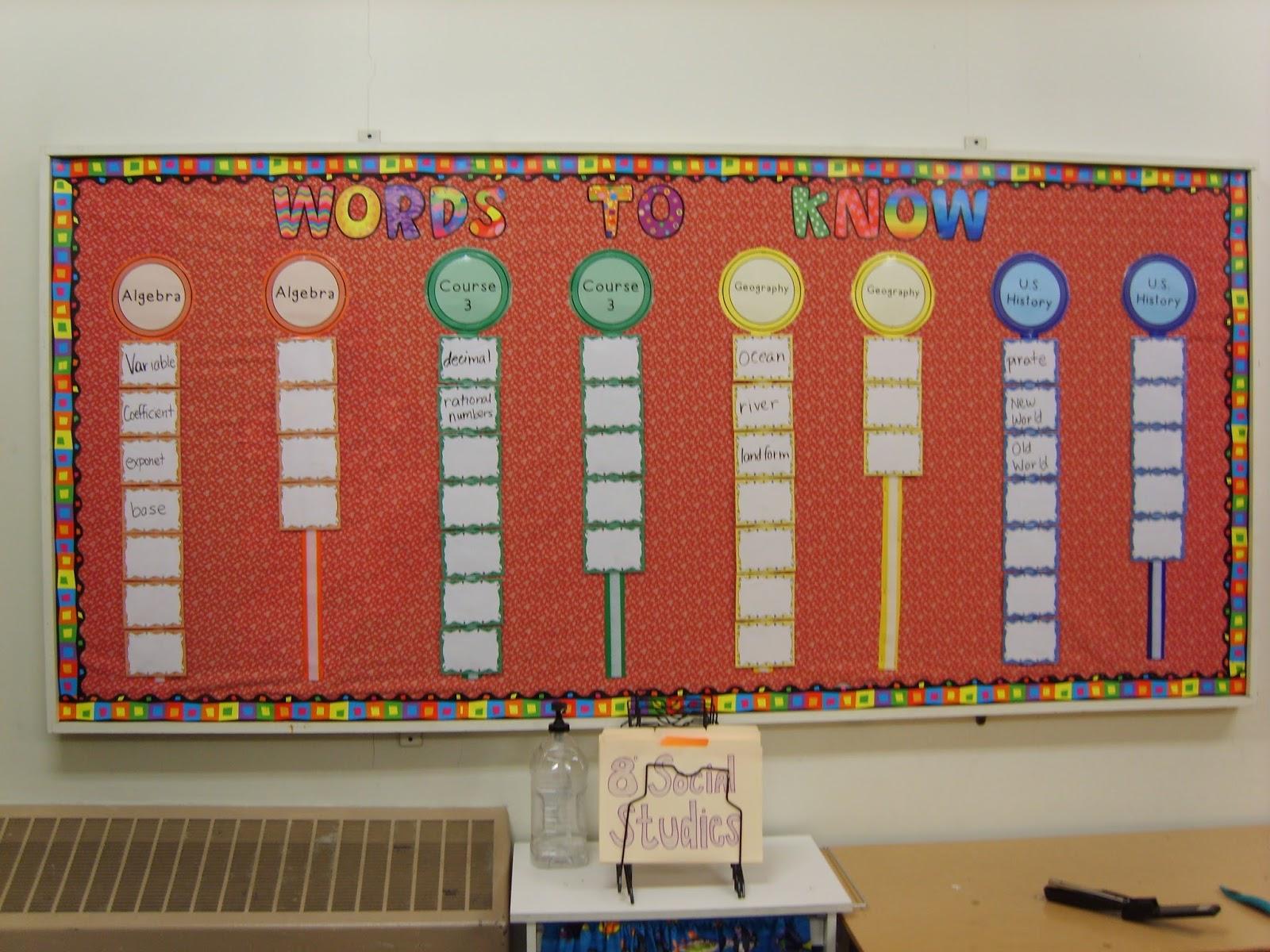 A Sea of Math: Word Wall