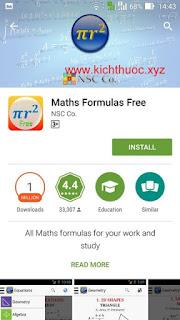 maths formulas free install