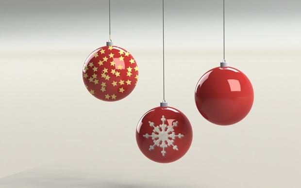 bolas de navidad rojas con solidworks