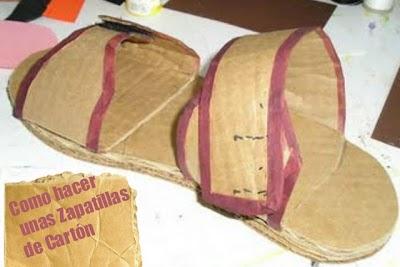 Como hacer unas Zapatillas de Cartón