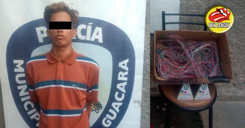 Joven encarcelado por robarse un pedazo de cable viejo