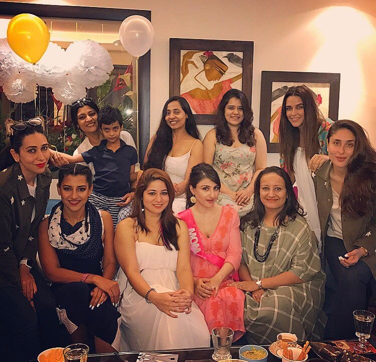 Kareena Kapoor, Taimur and Karisma Attended Soha Ali Khan's Baby Shower
