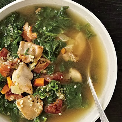 Chicken, Kale, and Quinoa Soup
