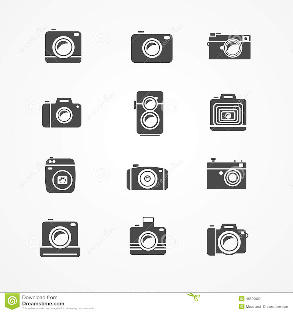 Vector Photo Camera Retro And New Icon Set Royalty Free Stock Images
