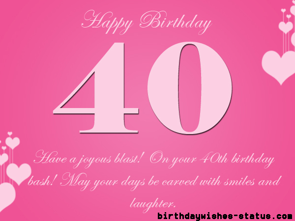 40th birthday wishes for mother