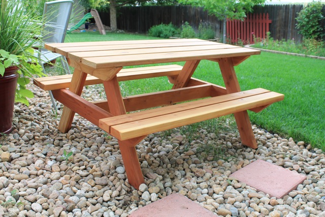 To Finish Up Our Kids Bbq Week I Wanted Show You This Awesome Picnic Table That My Husband Just Built Isn T It Cute Love Normal Things In