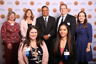 Group photo. Pictured are Holly Harper, Crystal Roberto, Kerrie Specker, Dr. Chris Bustamante, Jamie Peredo, John Bastian and Dr. Melanie Abts