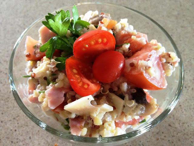 salade, tomates, cumin, yaourt