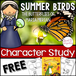 Need ideas for teaching characterization or character traits? This post gives you ideas with a spring mentor text. Click through to see how to use Summer Birds.