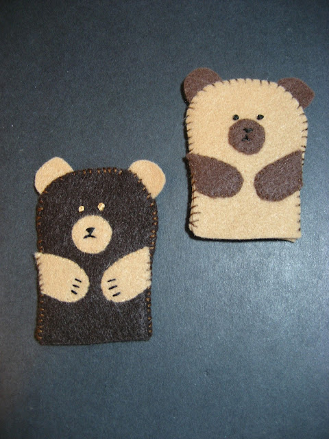 Felt Bear Finger Puppets