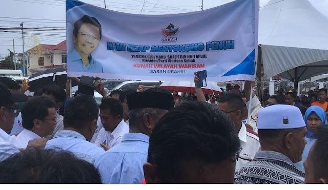 Image result for Gambar ribuan orang sabah sokong warisan