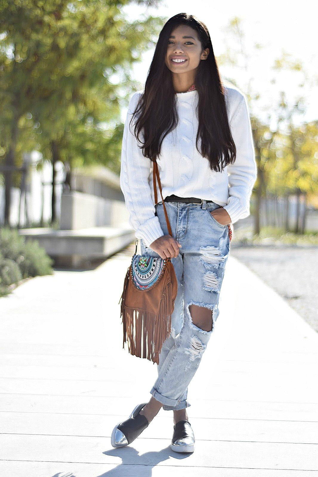 how to style fringe bags