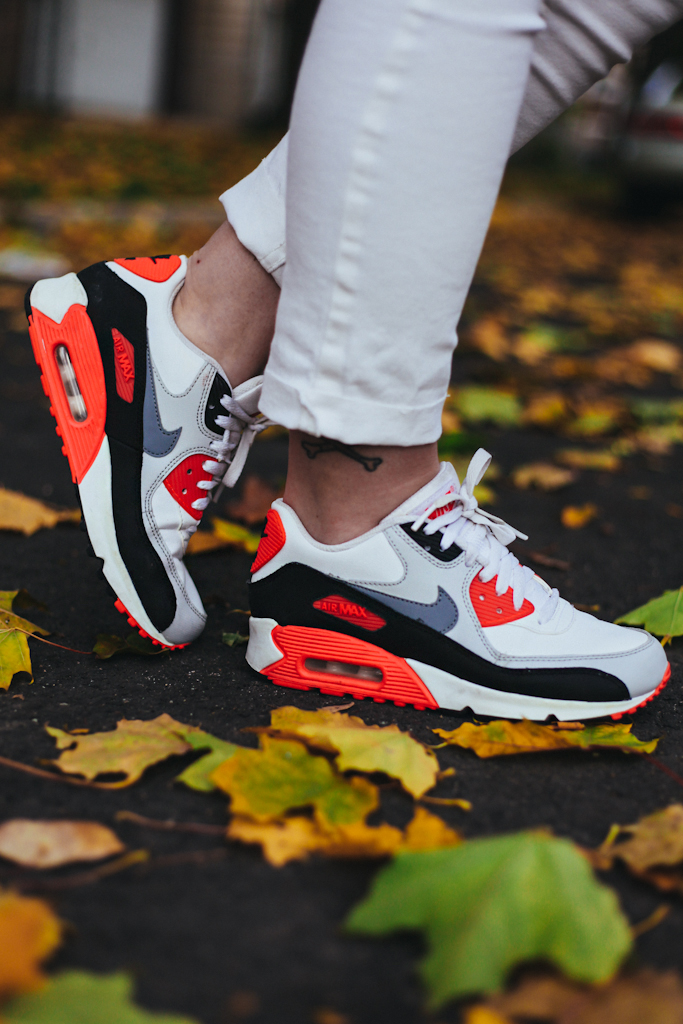 reputable site 0eddb 30837 ... usa nike air max 90 womens running shoes wolf grey infrared black white  wednesday november 20