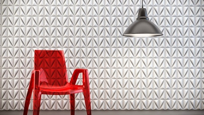 3D decorative wall panels in white color