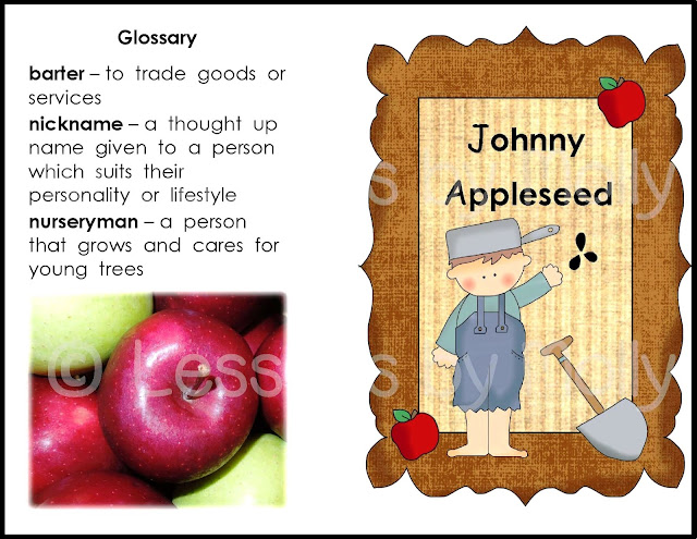 "Celebrate Johnny Appleseed's birthday with a book and a free quiz for your students!  Johnny Appleseed's birthday is on September 26th.  His birthday aligns with fall harvest time.  In particular, apple picking time!  Apples are what Johnny Appleseed is known for.  As an American frontiersman, he took on the role as a nurseryman.  He planted, grew, and sold apple trees to early American Settlers.  John Chapman was his birth name although people fondly referred to him as ""Johnny Appleseed""."