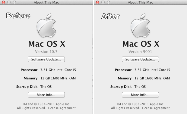 How to spoof your version of Mac OS X