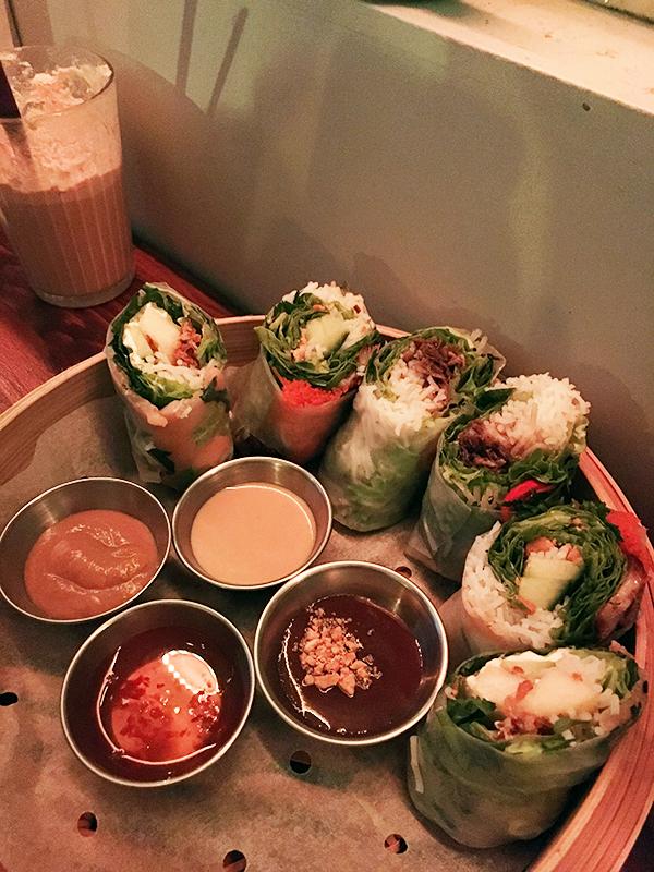 Spring rolls at Banoi