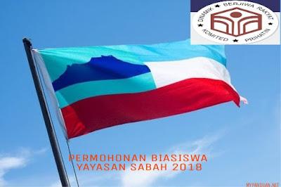 Permohonan Biasiswa Yayasan Sabah 2018 Online