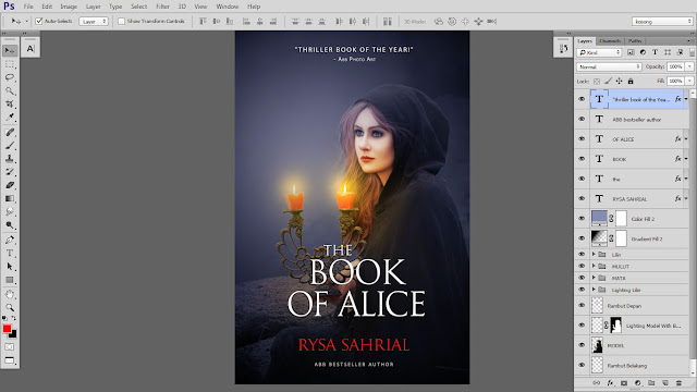 42 Design cover buku Novel dengan Photoshop CC part2