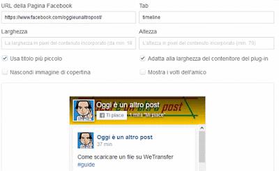 CCome creare un badge di una pagina facebook da includere sul tuo sito