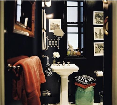 Masculine Master Baths: Cheeky Chic: Ebony Bathroom? Love It Or Leave It