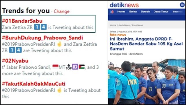 Kubu 01 Lambungkan #02Nyabu, Serangan Balik #01BandarSabu Puncaki Trending Topic