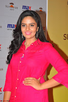 Sree Mukhi in Pink Kurti looks beautiful at Meet and Greet Session at Max Store (25).JPG
