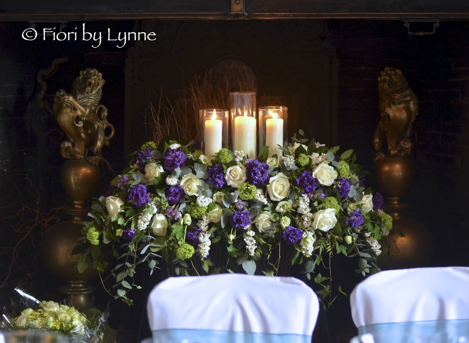 Becky S Spring White And Purple Wedding Flowers Rhinefield House