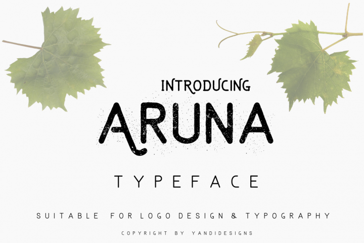 simple clean aruna typeface vintage fonts suitable for logo designs