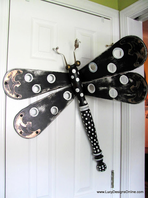 black and white funky dragonfly art Lucy Designs