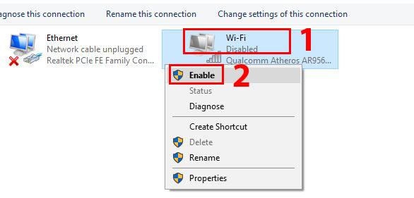 cara mengaktifkan wifi di laptop