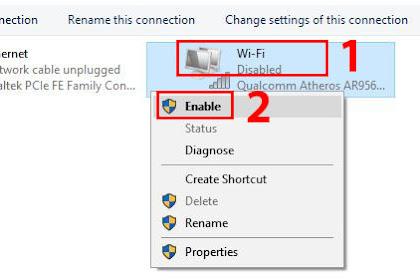 Cara  Mengaktifkan Wifi di Laptop Windows 10 yang Tiba-Tiba Mati