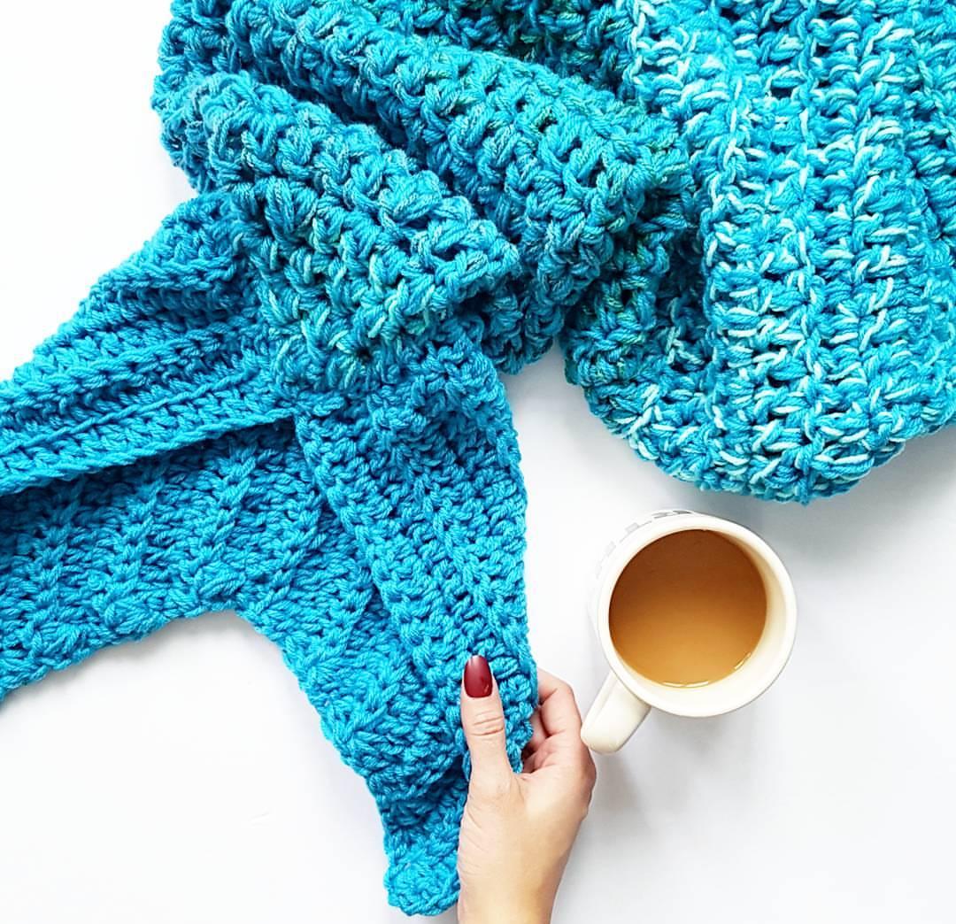 Mermaid Tail Blanket Pattern Oth Crochet Nook