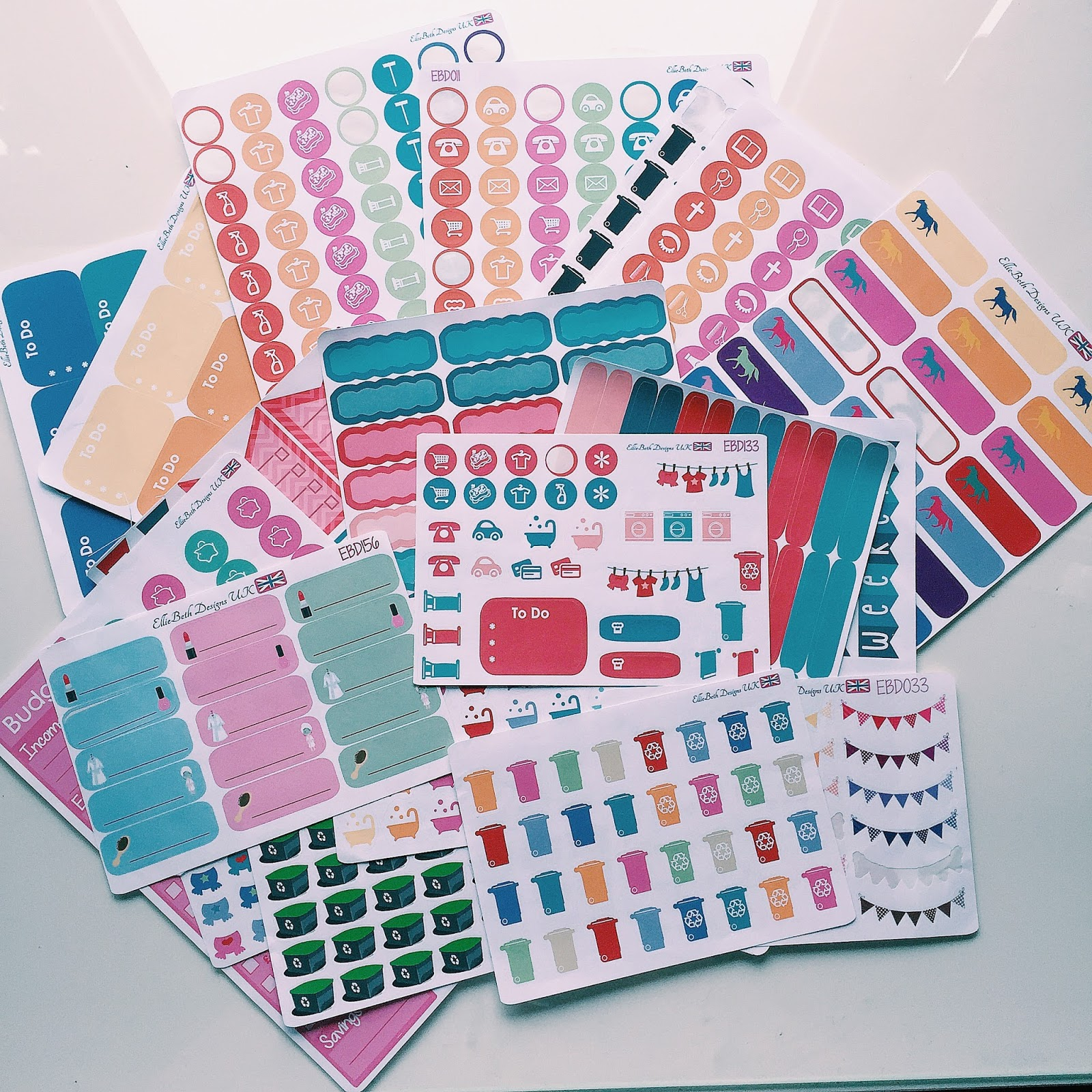 etsy planner sticker haul elliebethdesigns uk