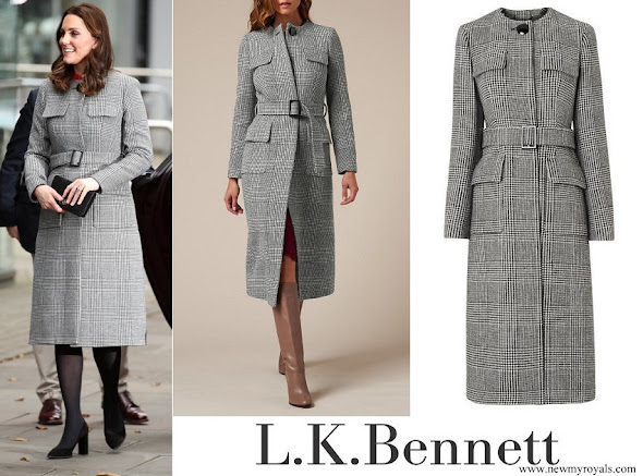 Kate Middleton wore L.K. Bennett Delli Check Coat