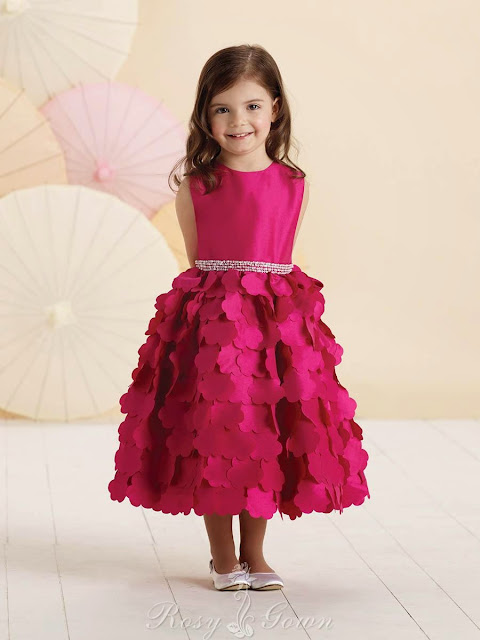 Cut-out Flowers Skirt Sleeveless Taffeta Perfect A-line Flower Girl Dress