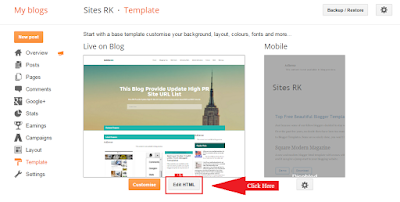 Remove Footer Credit Links From Blogger Templates, Edit HTML