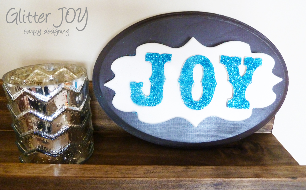 Glitter JOY decor | #glitteratmichaels #spon #glitter #christmas #holiday