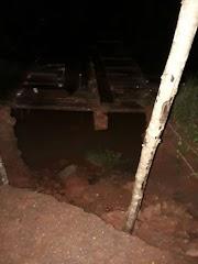 Ponte da Escola Família está prestes a cair em Poção de Pedras