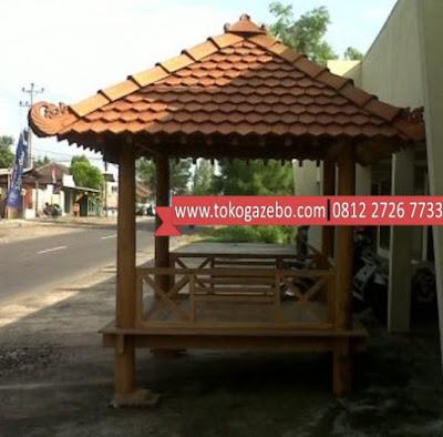 Gazebo Glugu Minimalis Atap Genteng