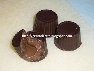 Cioccolatini con cuore di nutella