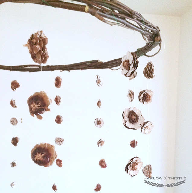 DIY Centerpiece Hanging Pinecone Harlow and Thistle 2