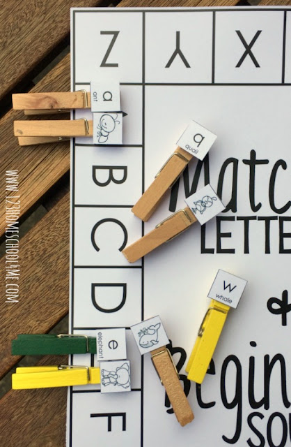 Get those fingers working with these free match and clip alphabet and beginning sounds cards