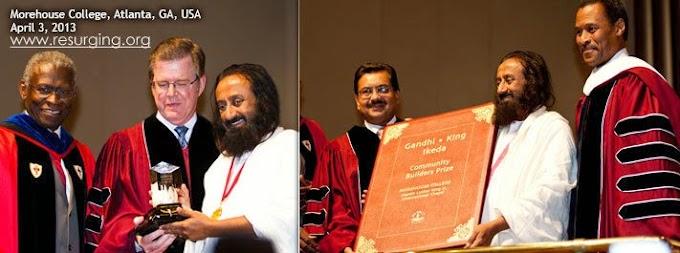 Awards and Honors to Sri Sri Ravi Shankar Prabhuji