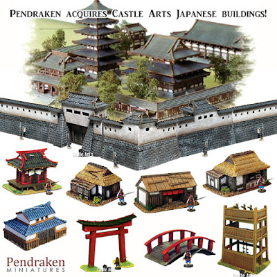 Pendraken Miniatures Acquires Castle Arts 10mm Japanese Buildings