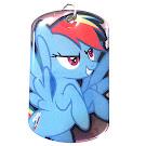 My Little Pony Rainbow Dash Series 1 Dog Tag