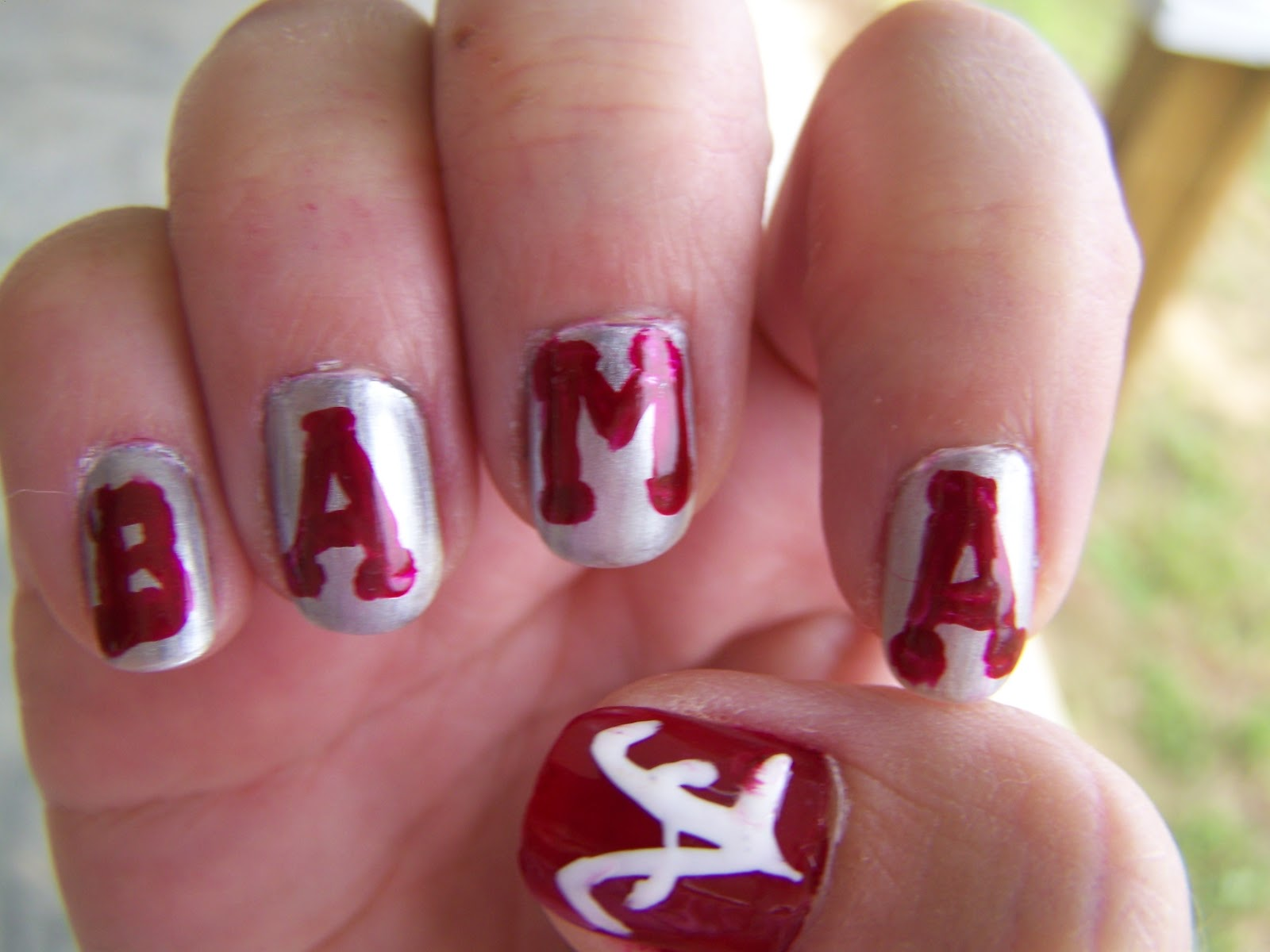 NailArt - Southern Style: Roll Tide Roll