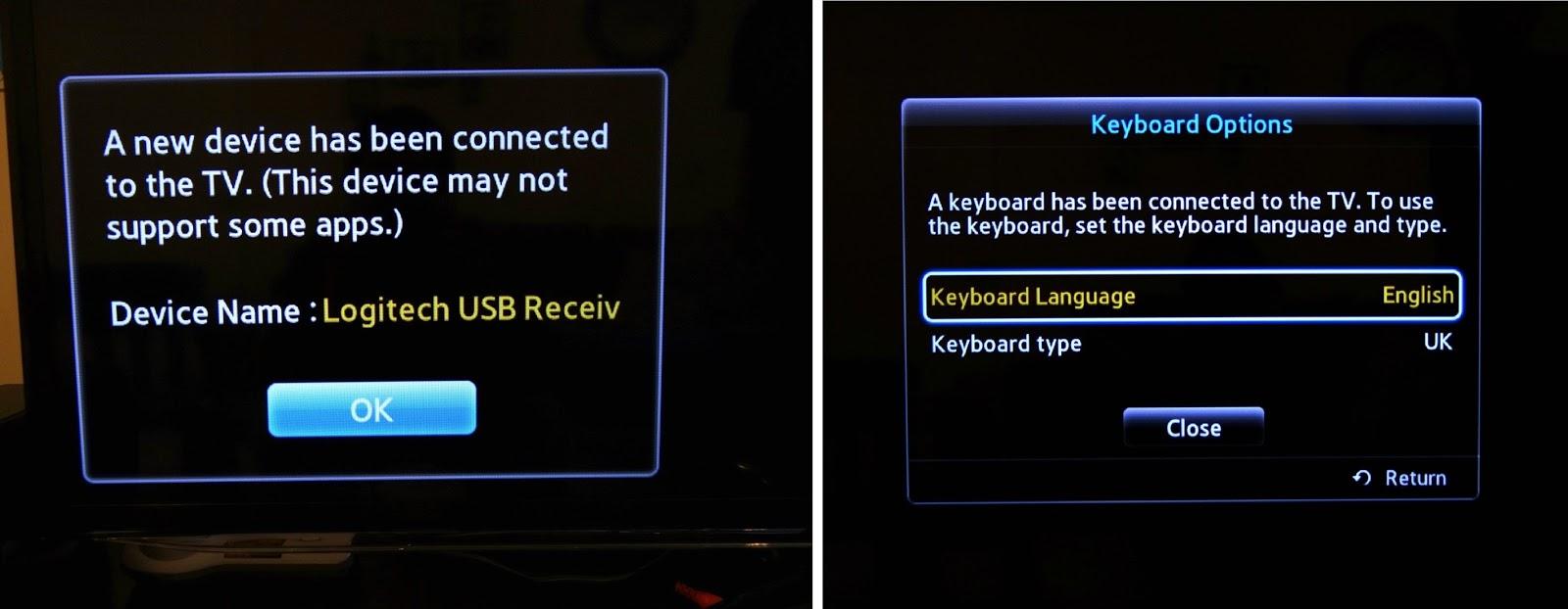 Logitech Keyboard, PC to TV entertainment, Wireless keyboard for TV