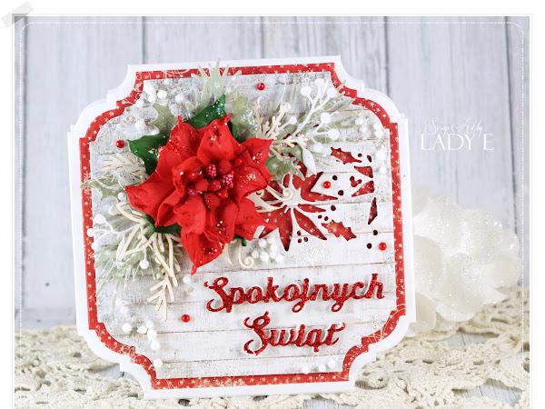 Christmas Cards with Foamiran Poinsettias / Świątecznie z Poinsecjami z Foamiranu